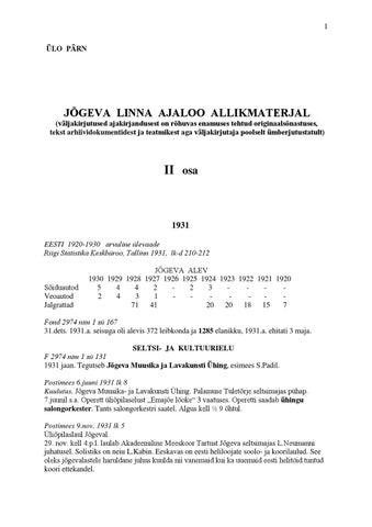 d70e98e048e Jõgeva linna ajaloo allikmaterjal II by Veigo Mandre - issuu