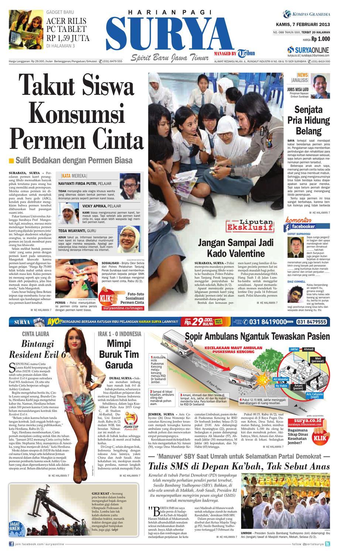 E Paper Surya Edisi 7 Februari 2013 By Harian Issuu Sepatu Olahraga Lari Lokal  Fans Veloz N