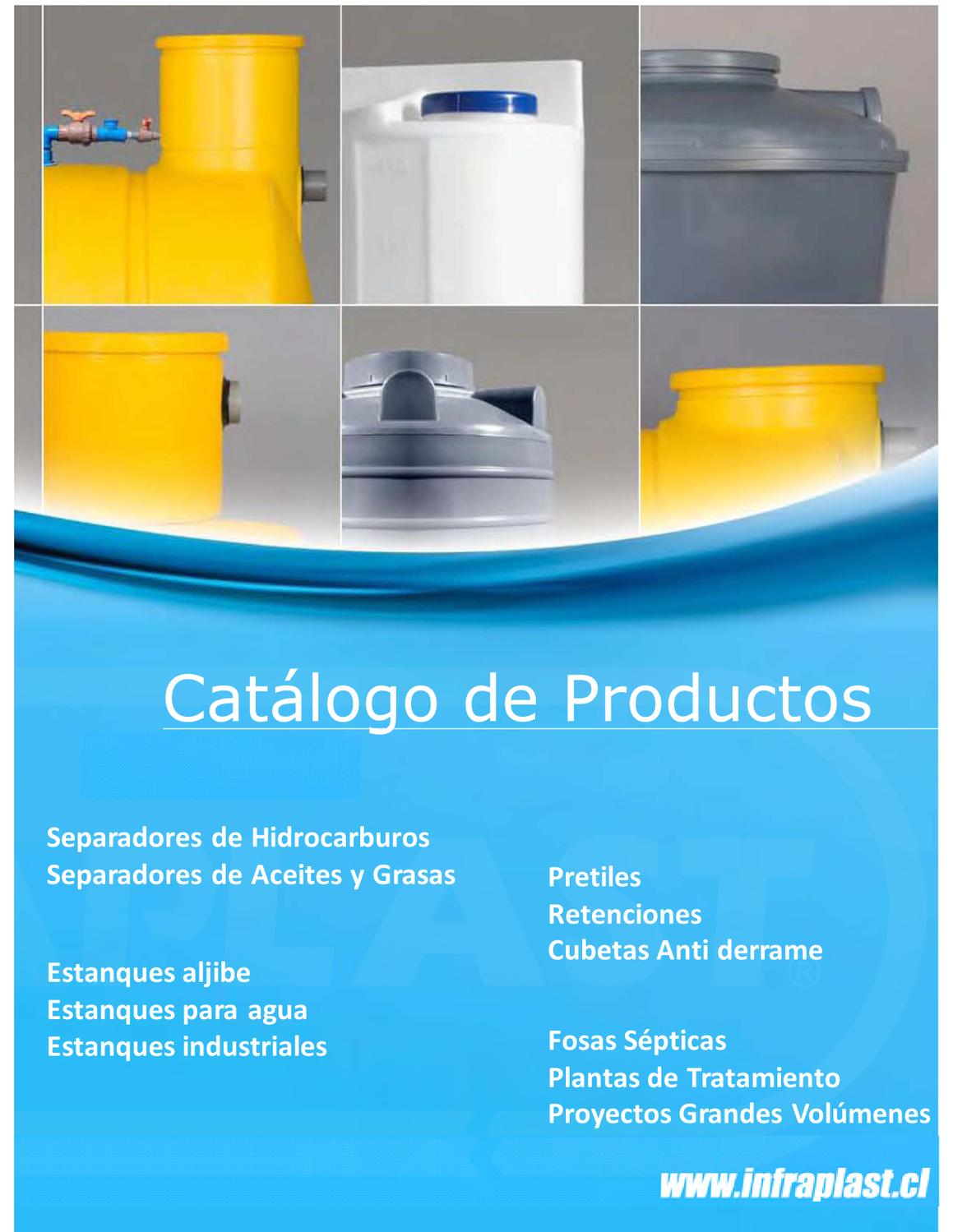 Catalogo productos infraplast 2012 by laetitia roucher issuu for Estanque aljibe