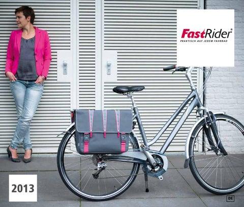16 ltr Fahrradtasche Shopper Crumble von Fast Rider Inhalt max grau