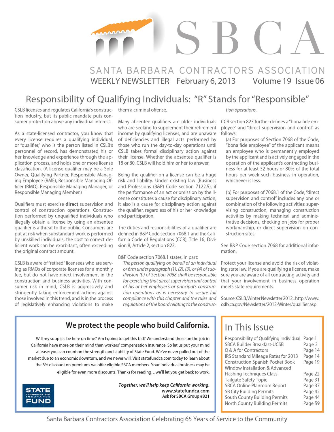 Sbca weekly newsletter 020613 by april ford issuu 1betcityfo Image collections