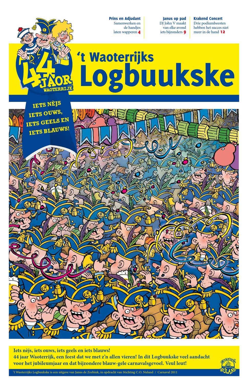 Kleurplaten Carnaval Oeteldonk.2011 Waoterrijks Logbuukske By Janus De Zeebink Issuu