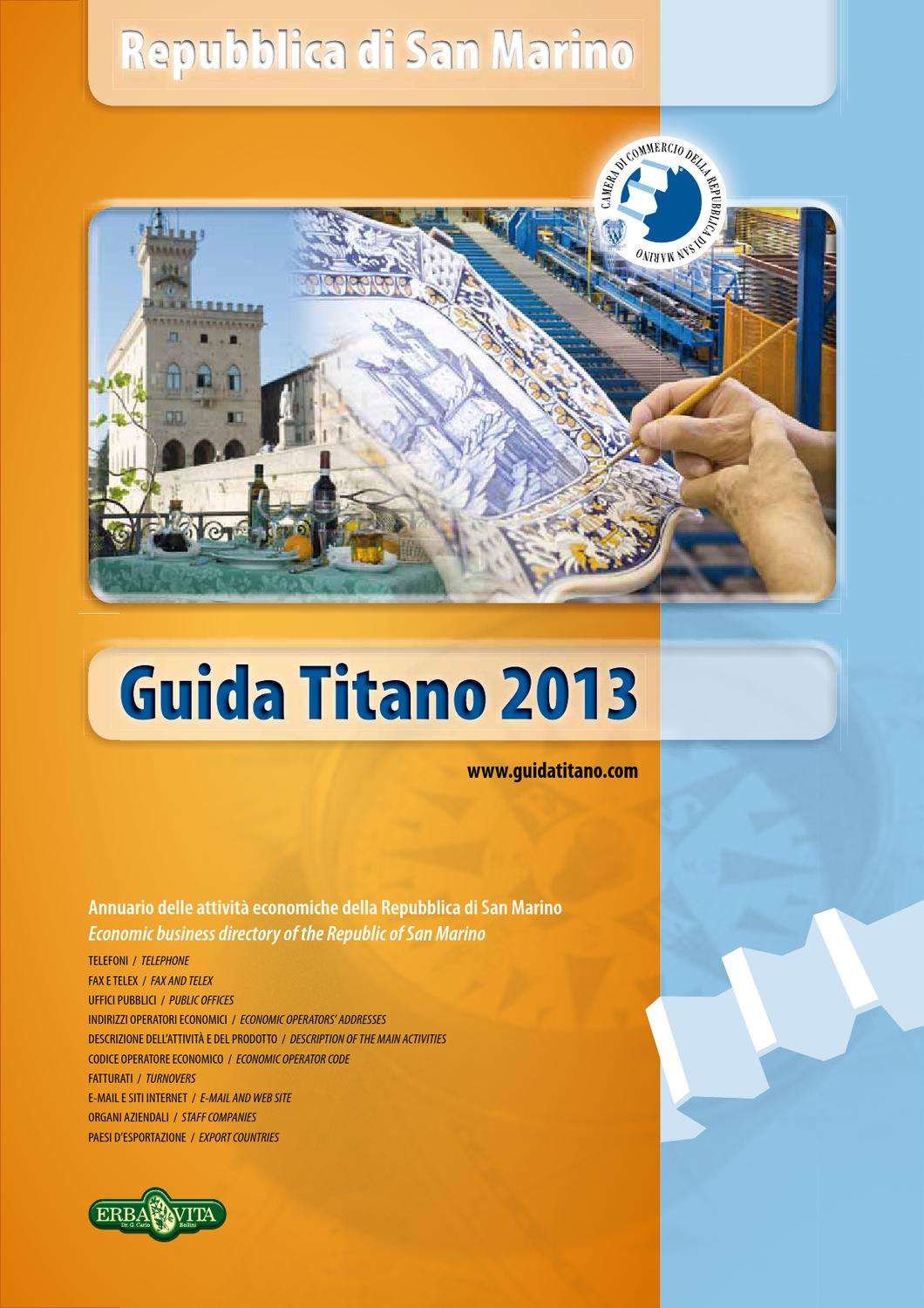 Guida Titano 2013 by Camera di Commercio San Marino   San Marino Chamber of  Commerce - issuu af3abb7990a