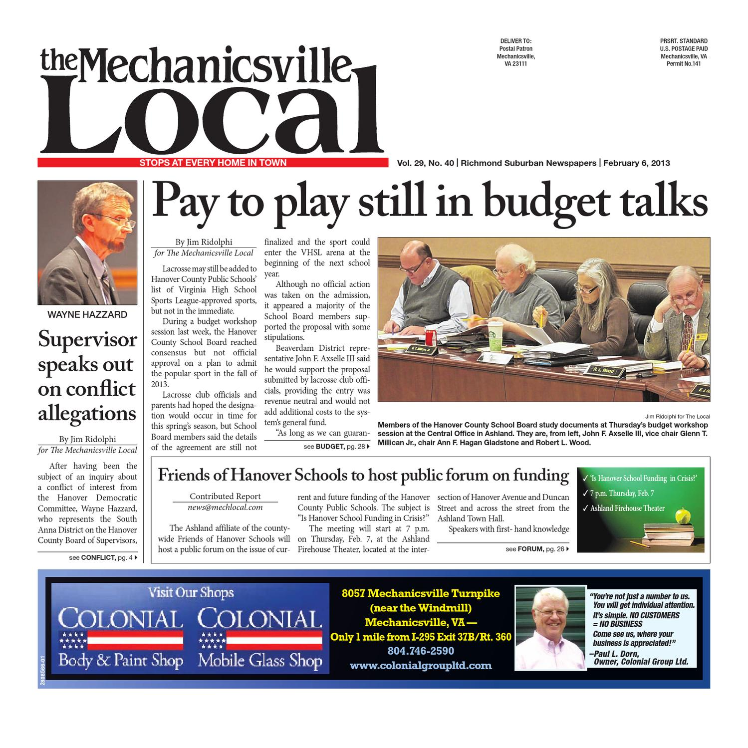 02062013 by the mechanicsville local issuu fandeluxe Choice Image