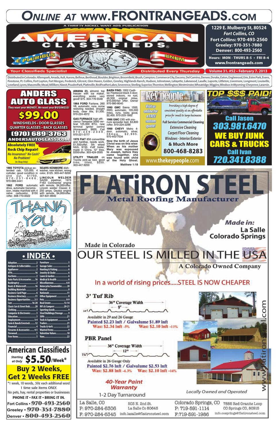 American classifieds front range 2 7 13 by thrifty nickel of northern colorado issuu