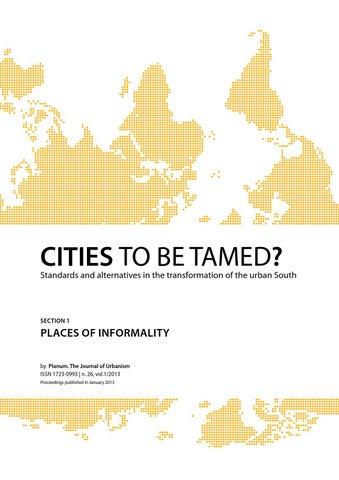 Conference Proceedings Cities To Be Tamed Full Papers Section 1