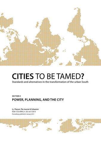 Conference Proceedings CITIES TO BE TAMED? | Full Papers