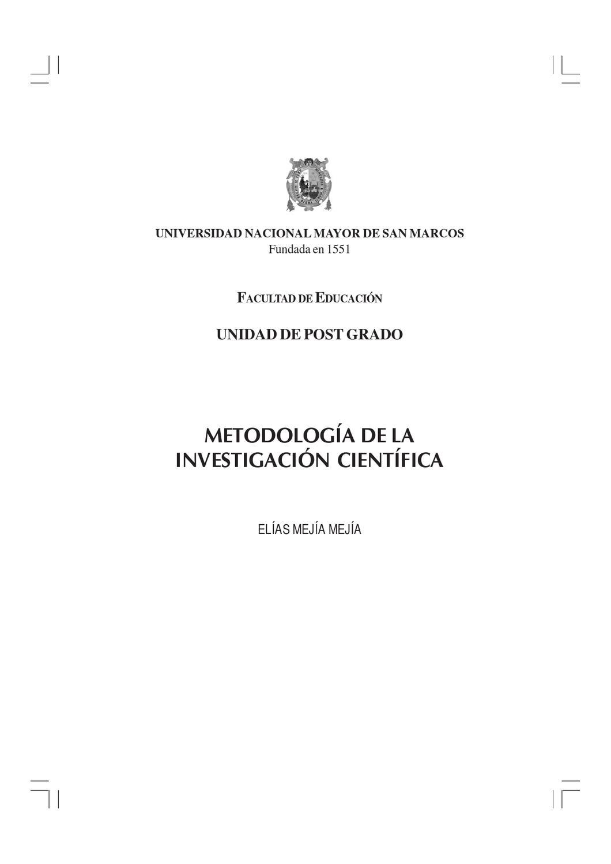 Metodología de la investigación científica by Javier Córdova Arias ...