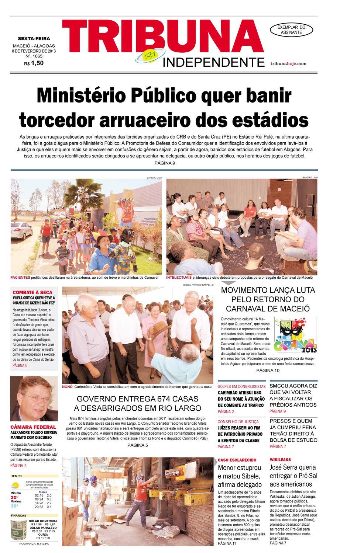Edição número 1665 - 08 de fevereiro de 2013 by Tribuna Hoje - issuu d017762ea6b