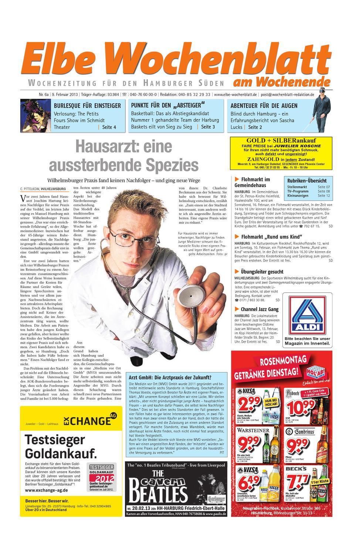 Wochenende KW06-2013 by Elbe Wochenblatt Verlagsgesellschaft mbH & Co.KG -  issuu