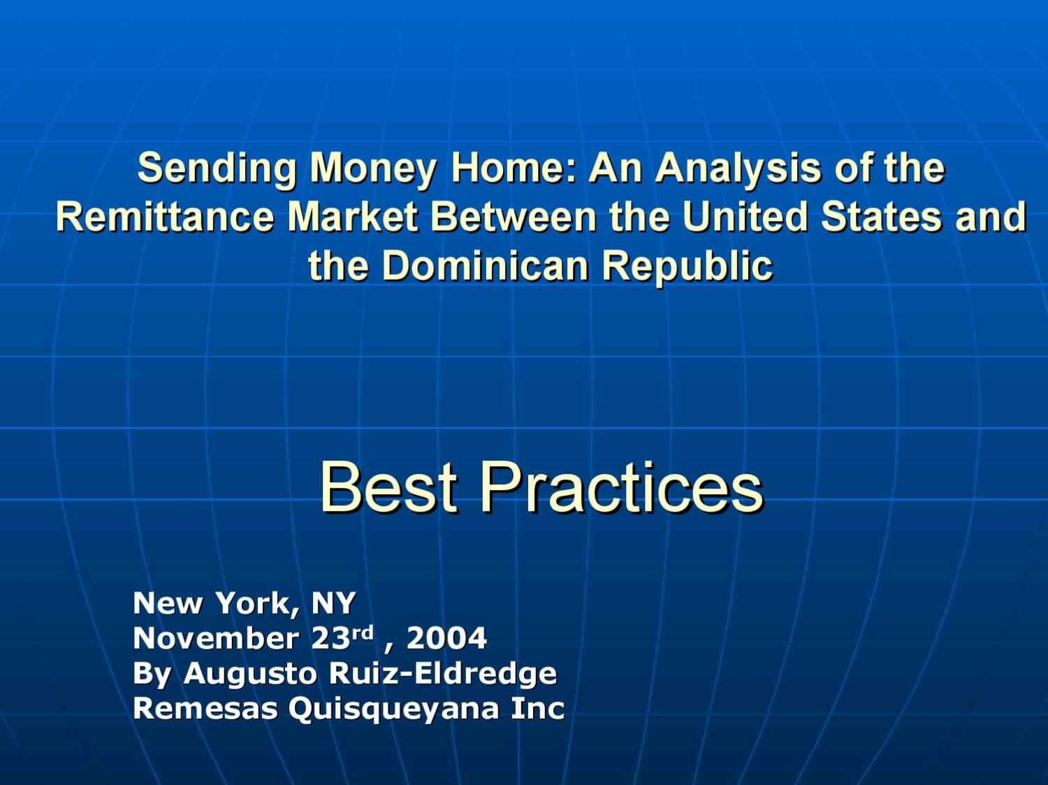 An Ysis Of The Remittance Market