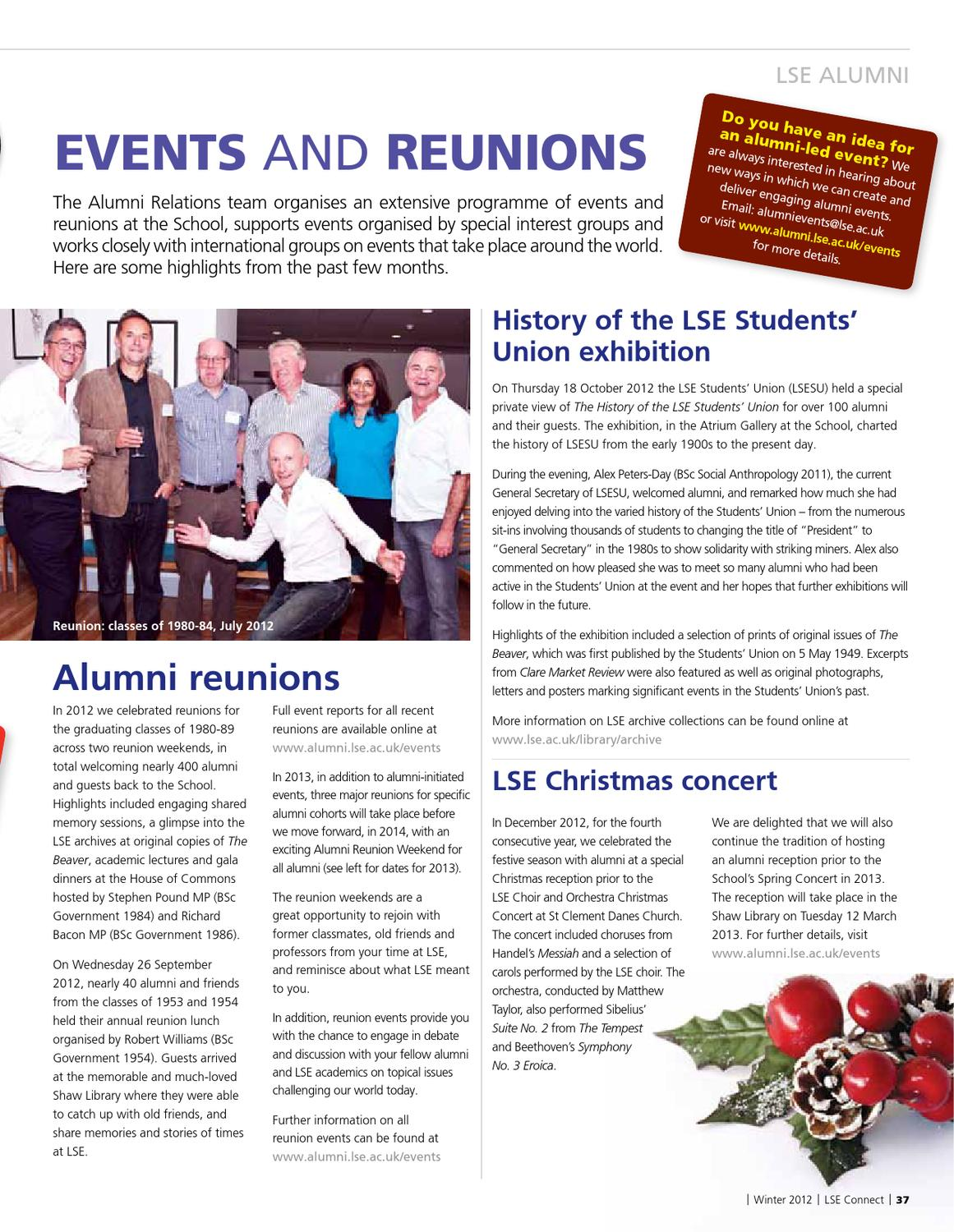 LSE Connect Winter 2012 by London School of Economics - issuu
