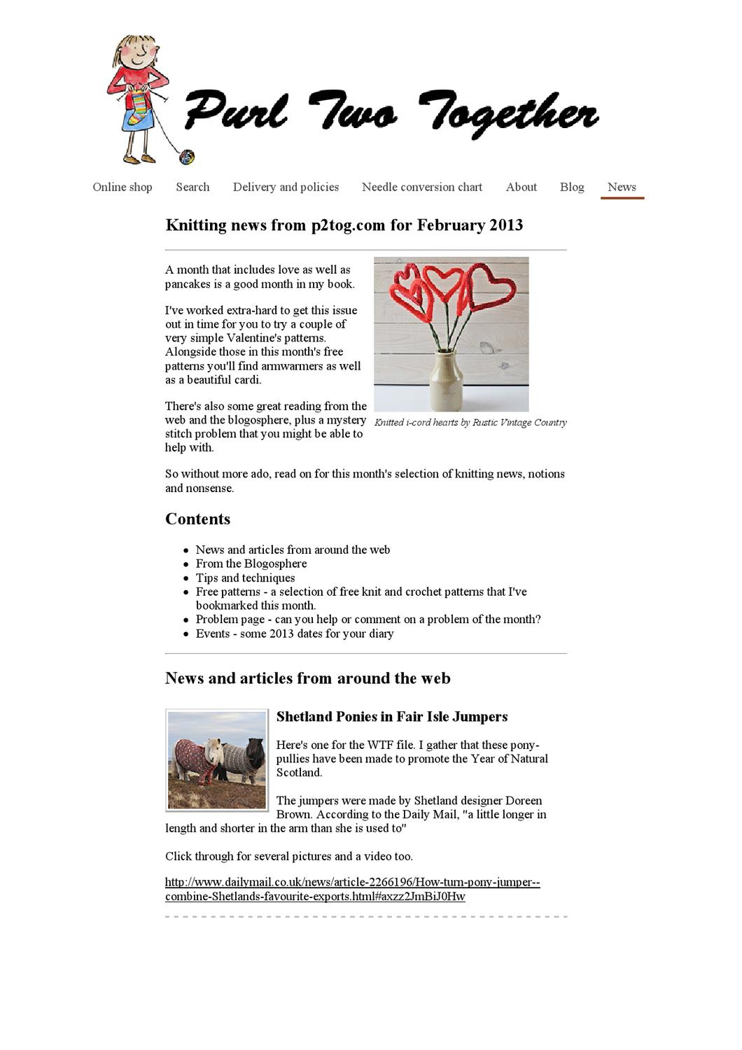 Purl two together knitting news from p2tog by handspinner purl two together knitting news from p2tog by handspinner issuu geenschuldenfo Choice Image