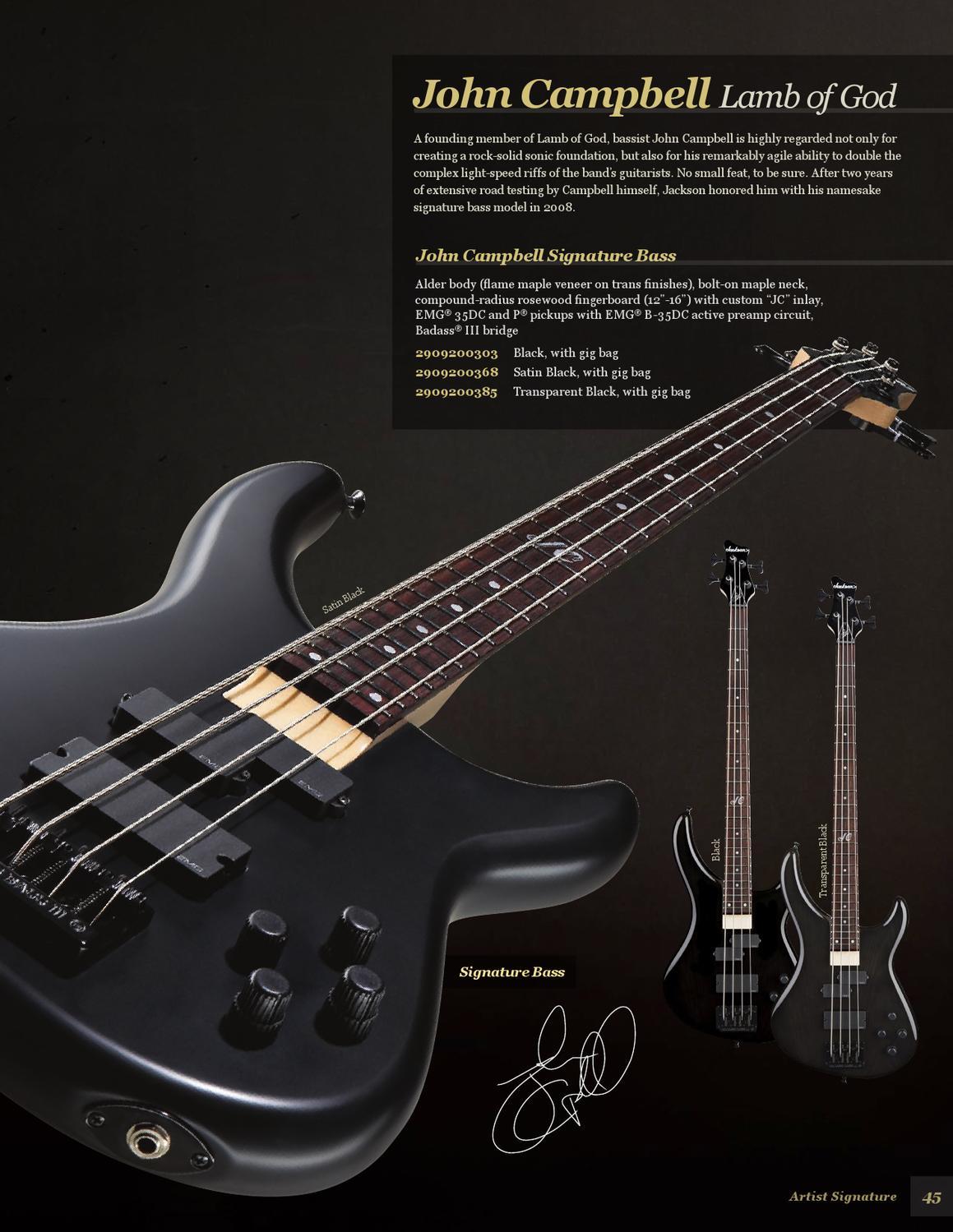 2013 Jackson Guitar Bass Catalog By Guitars Issuu With Emg Pickup Wiring