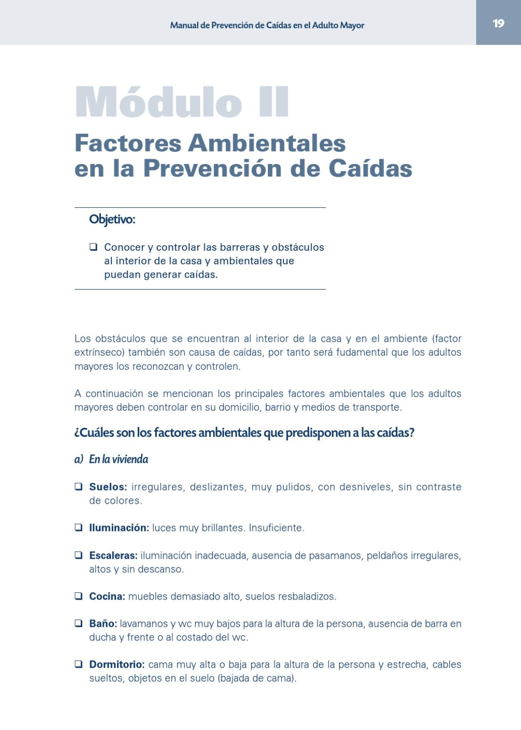 Manual De Prevenci N De Ca Das En El Adulto Mayor By Kinesiologia  # Muebles Kinesiologia