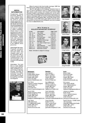 ec34df84c UMD Men's Hockey Media Guide 2012-13 by UMD Bulldogs - issuu