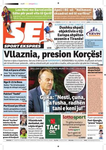 Faqia e Pare Gazeta Sport Ekspres DT 17 Mars 2014 | SportEkspres.com