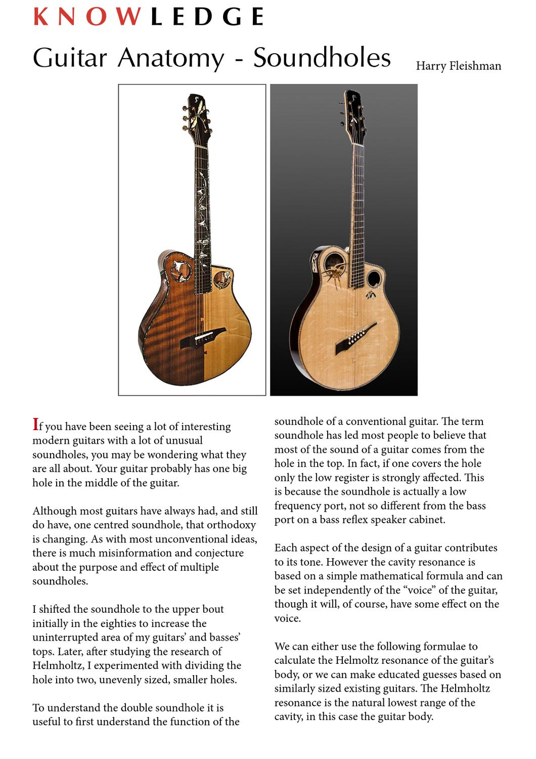 Guitarbench Magazine Issue 4 Guitar Anatomy Soundholes Article By
