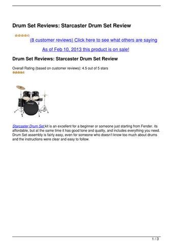 Scintillating Fender Starcaster Drum Set Review Images - Best Image ...