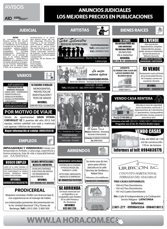 Edición impresa Cotopaxi del 10 de febrero de 2013 by Diario La Hora ...