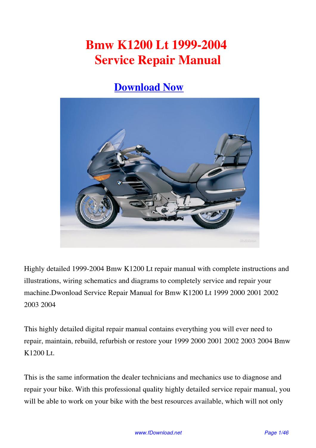 download bmw k1200 lt 1999 2004 factory repair manual by. Black Bedroom Furniture Sets. Home Design Ideas