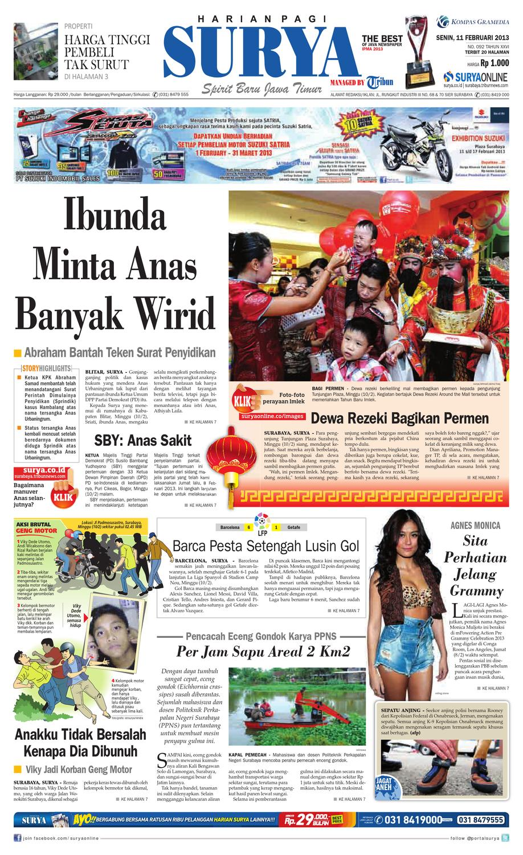 E Paper Surya Edisi 11 Februari 2013 By Harian Issuu Lg Kulkas Inverter Gn M572hphl 178cm Putih Bunga Khusus Jabodetabek