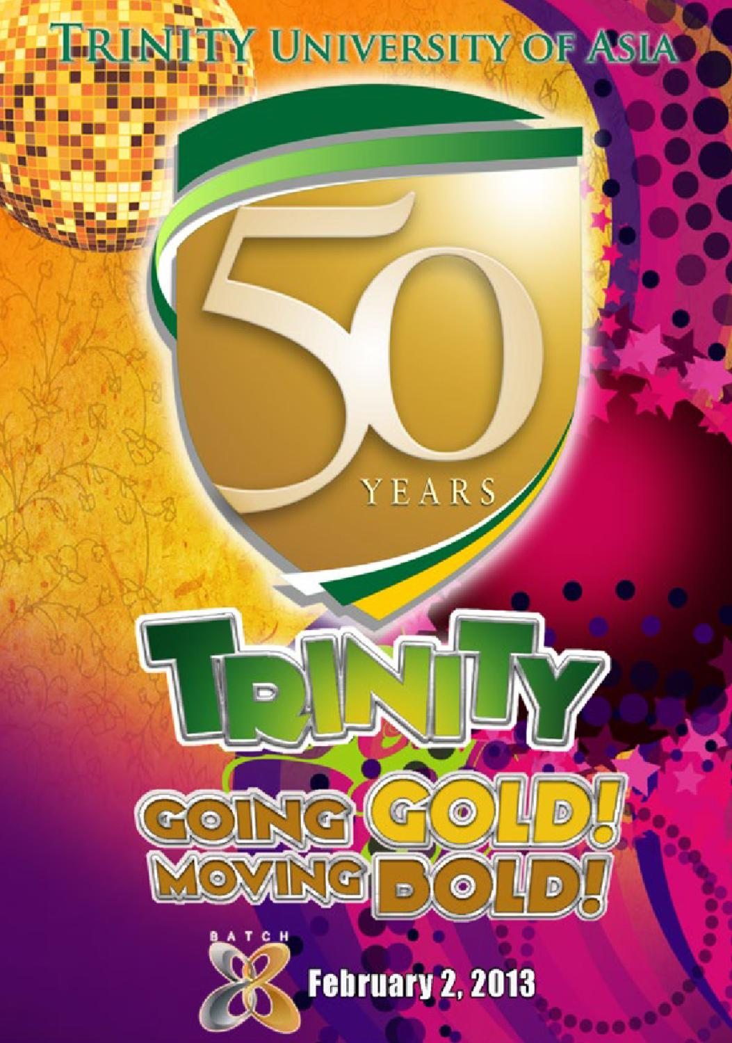 Shirt design for alumni homecoming - Trinity Hs 50th Grand Homecoming Program Book By Christian Uybengkee Issuu