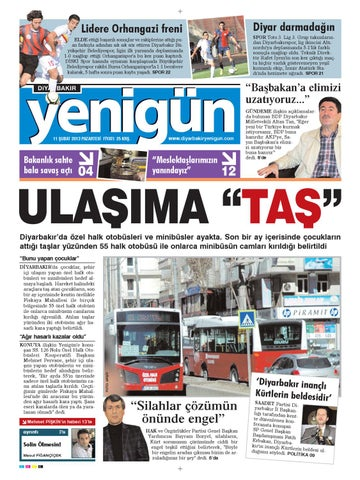 Diyarbakir Yenigun Gazetesi 11 Subat 2012 By Osman Ergun Issuu