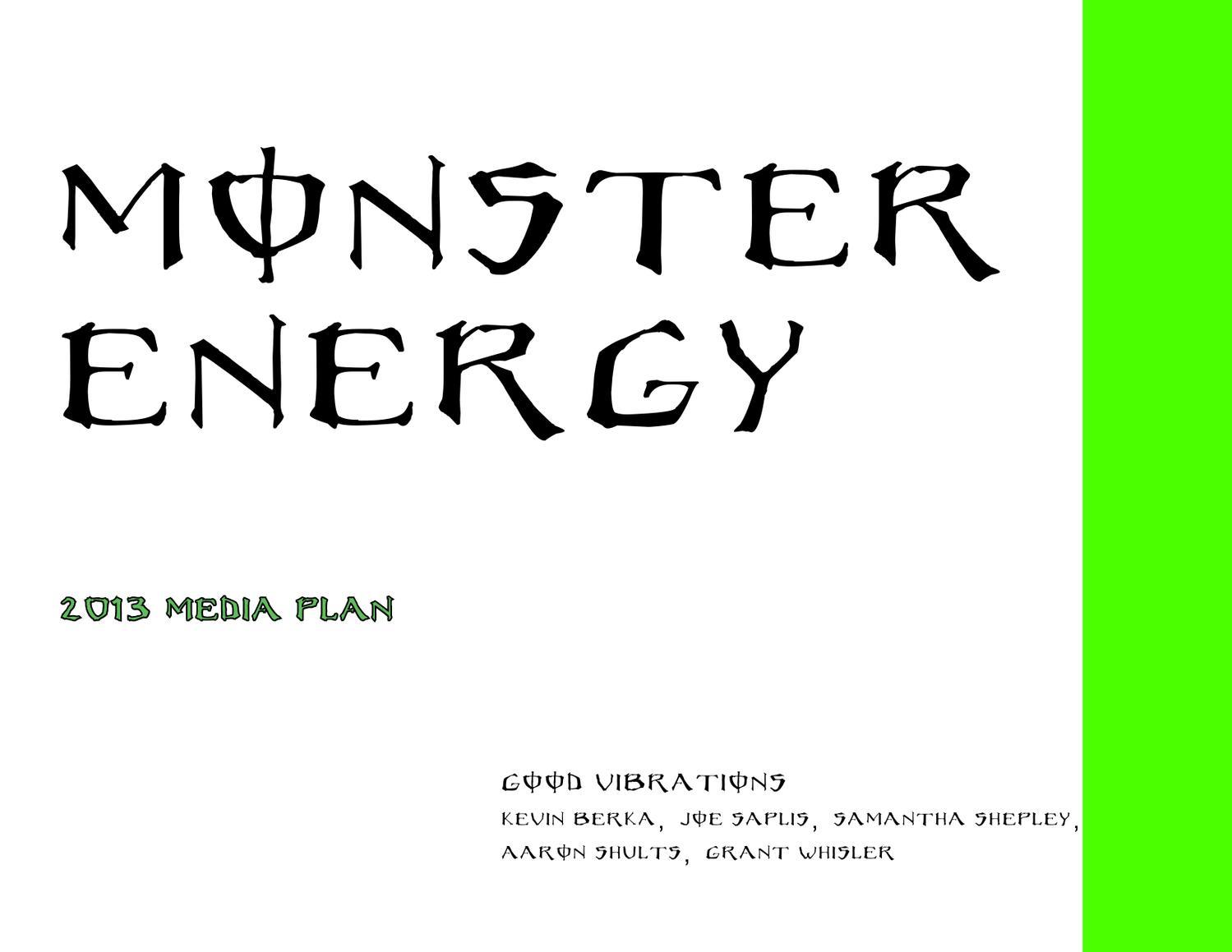 d891e9160 Monster Energy Media Plan by joe saplis - issuu