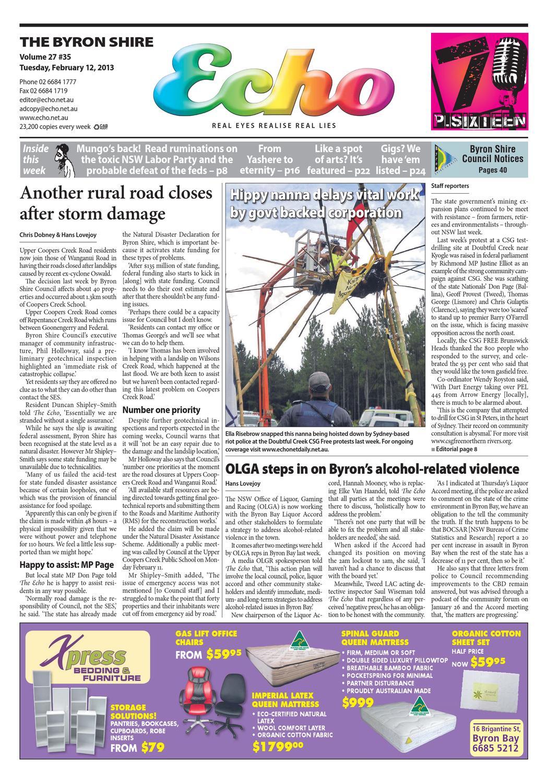 0a6fc991dde Byron Shire Echo – Issue 27.35 – 12 02 2013 by Echo Publications - issuu