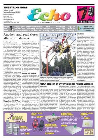 Byron Shire Echo – Issue 27.35 – 12 02 2013 by Echo Publications - issuu f8eaecdb1