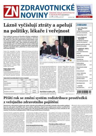 ZDRAVOTNICKÉ NOVINY ODBORNÉ FÓRUM ZDRAVOTNICTVÍ A SOCIÁLNÍ PÉČE  www.zdravky.cz c9c2e3399e