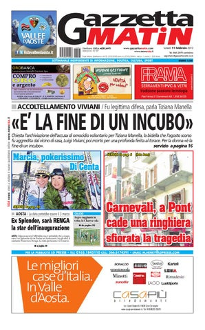 gazzetta matin del 11 febbraio 2013 by luca mercanti - issuu - Gazebo Unico Progetta Impresa Stecca Balaustra