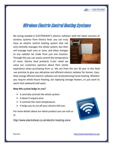 Electraheat Electric central heating system by electra heat - issuu