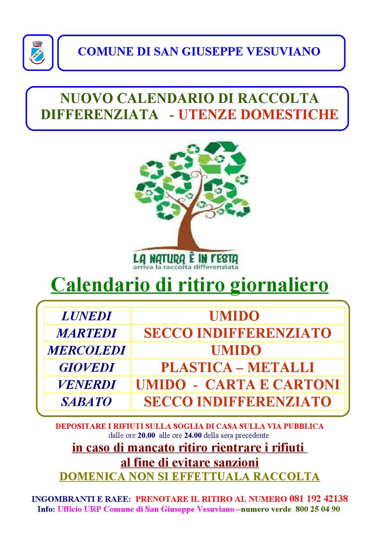 Calendario Raccolta Differenziata Napoli.Calendario Raccolta Differenziata 2013 By Comune Di San