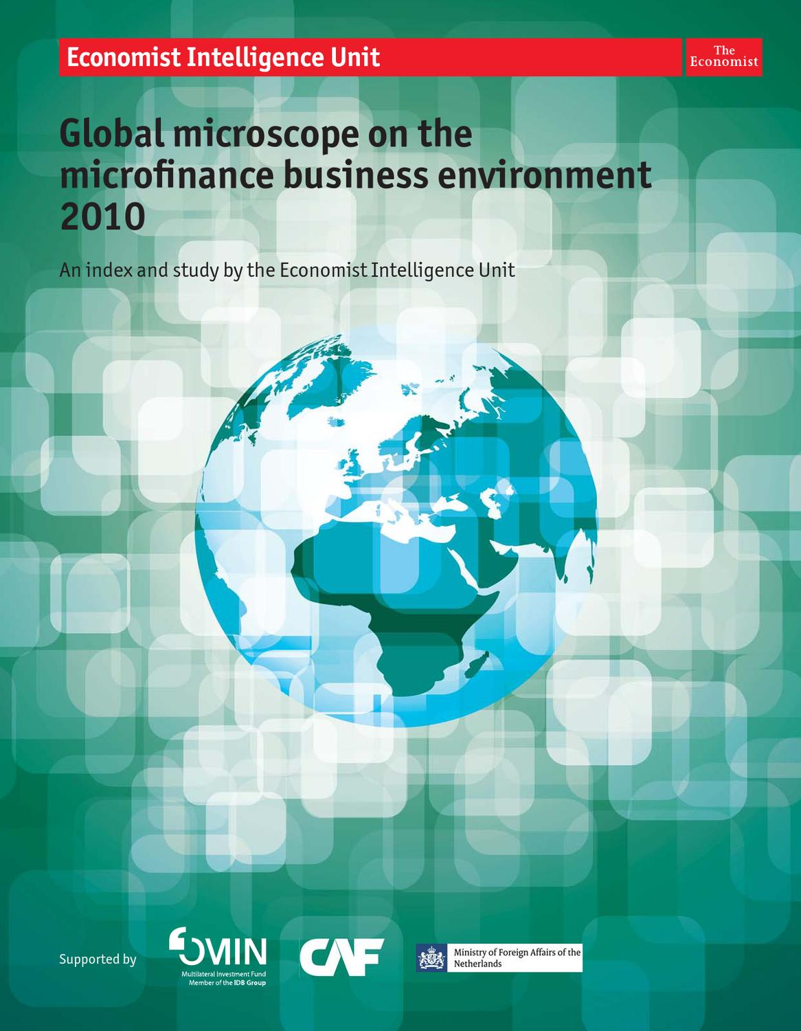 global microscope on the microfinance business environment