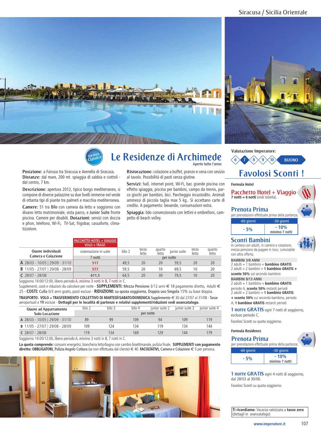 Le Residenze Di Archimede Foto sicilia 2013 - imperatore travel by imperatore travel - issuu