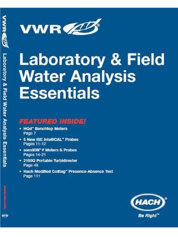 Hach VWR Catalog by Kristyn Keefe - issuu