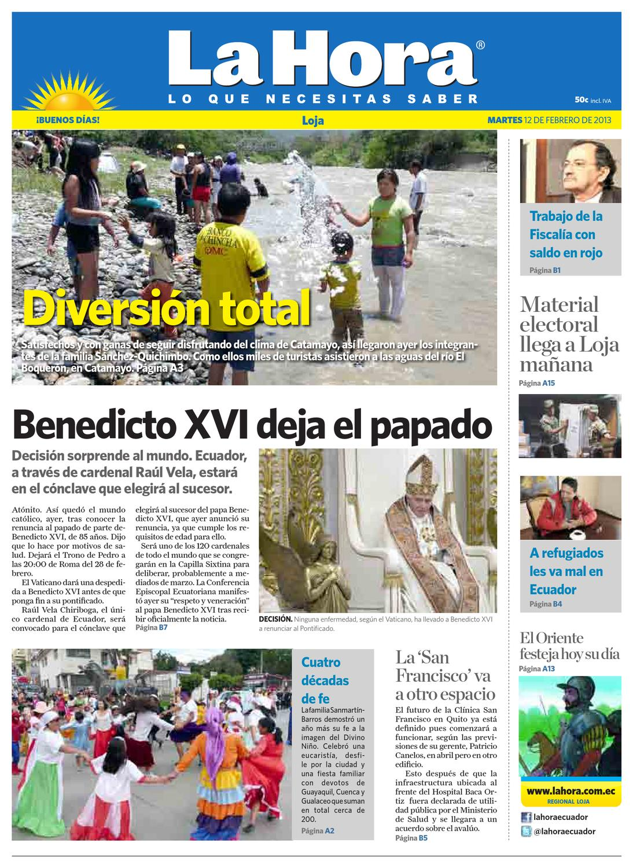 ea45520e3f730 Diario La Hora Loja 12 de Febrero 2013 by Diario La Hora Ecuador - issuu