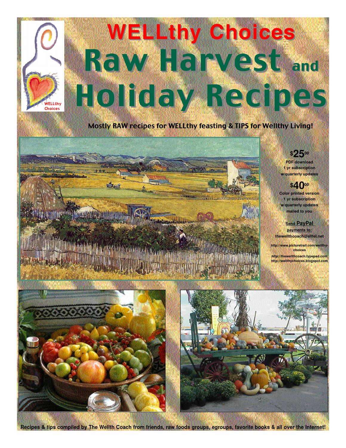 Raw harvest holiday recipes by wellthy choices issuu forumfinder Choice Image