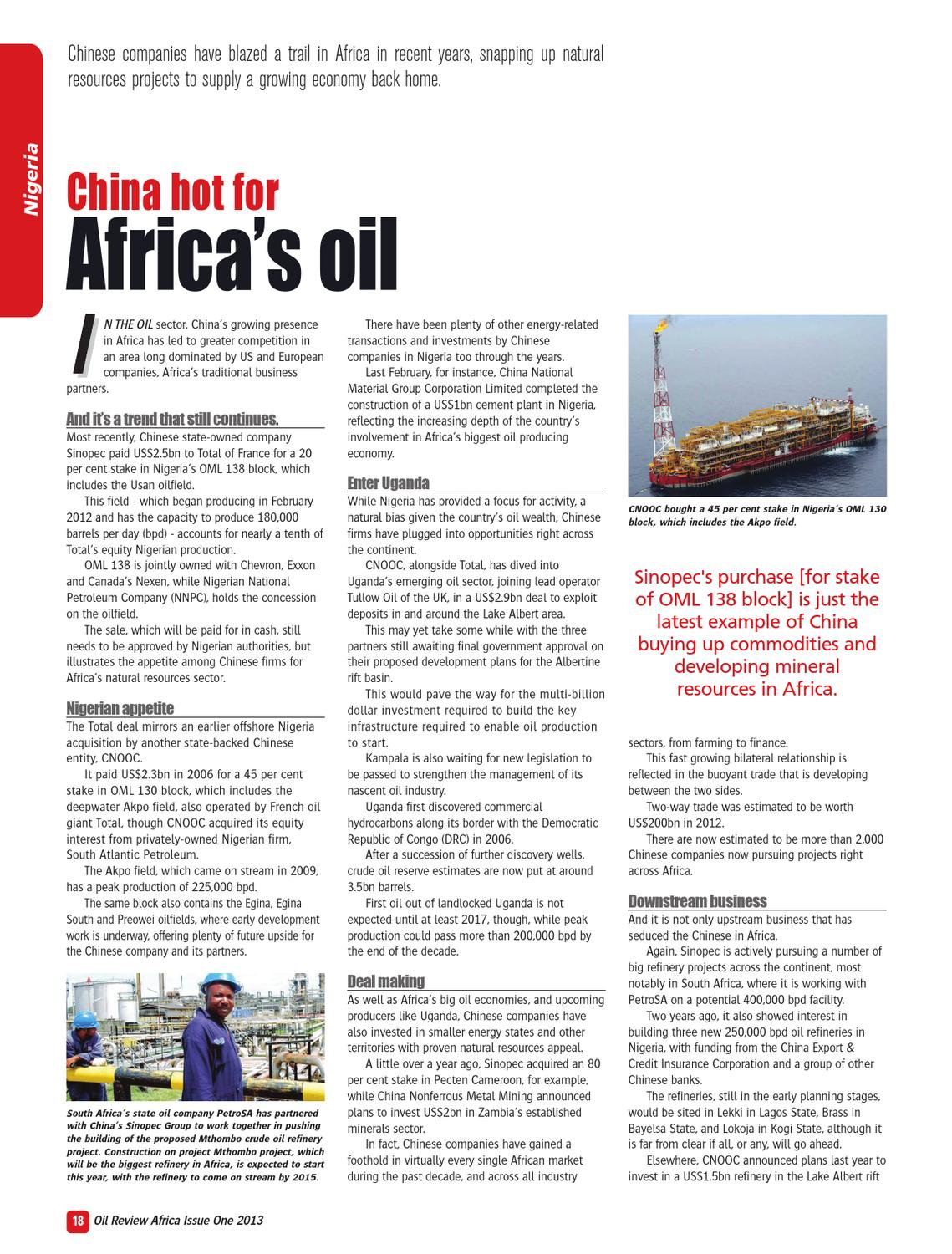 Oil Review Africa 1 2013