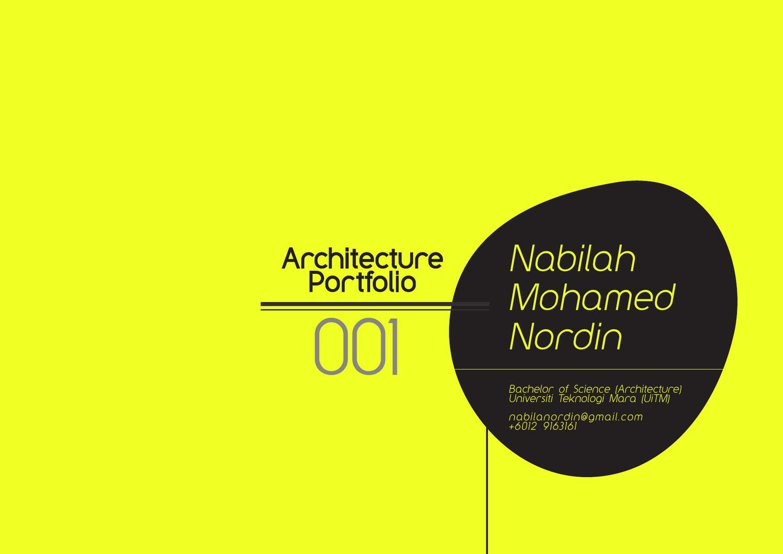 student architecture portfolio 001 nabilah nordin by nabilah