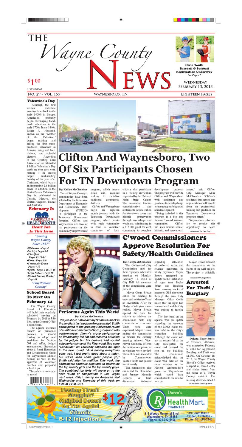 Wayne County News 02-13-13 by Chester County Independent - issuu