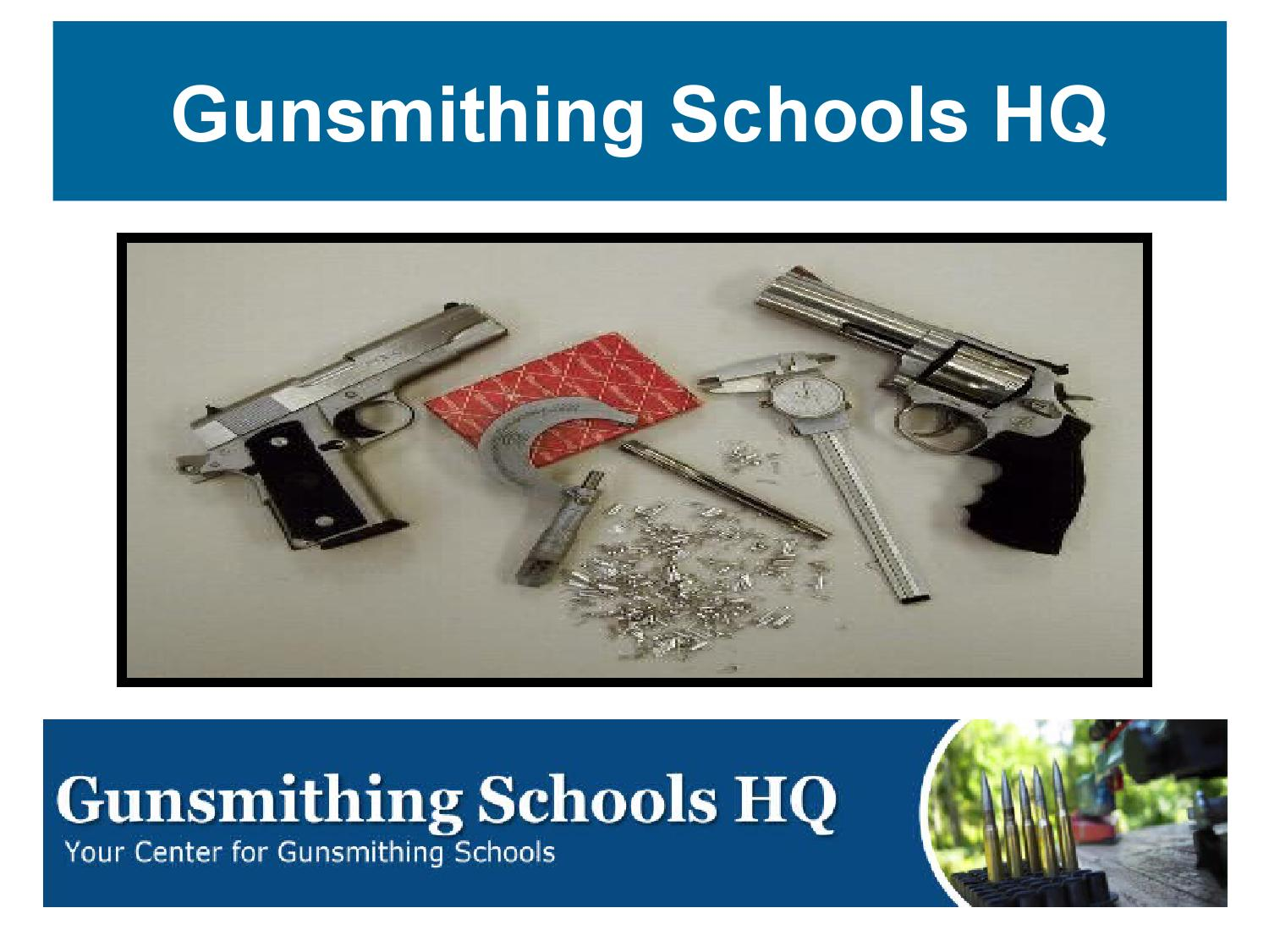 gunsmithing schools