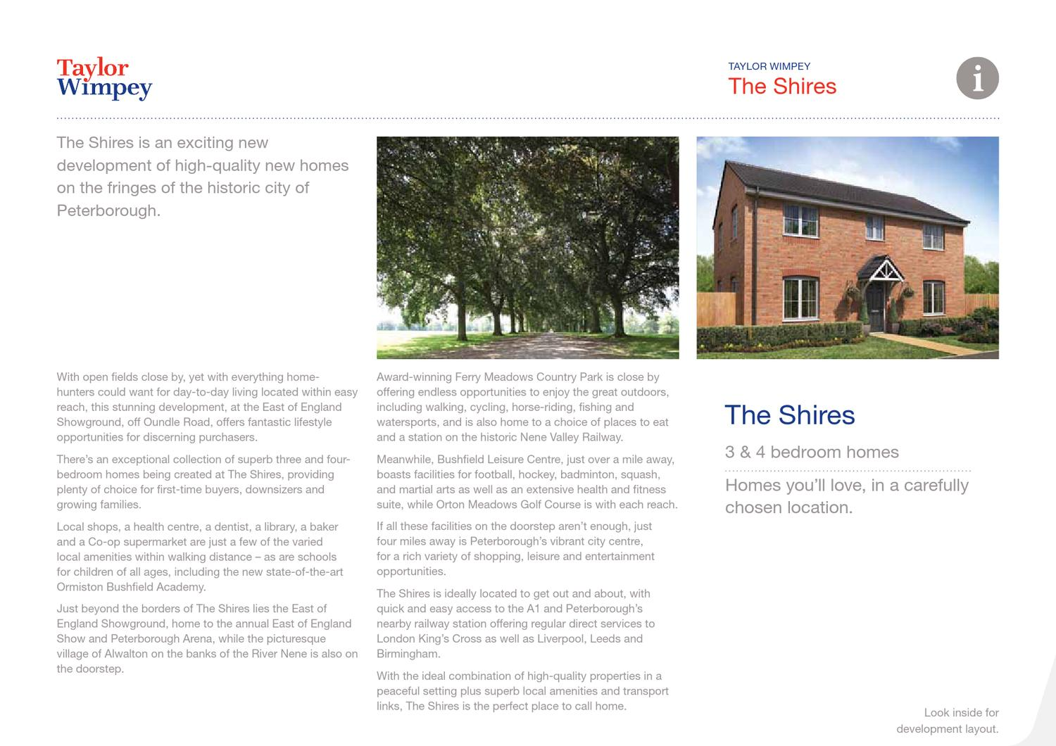 The Shires Taylor Wimpey By Newhomesforsalecouk Issuu