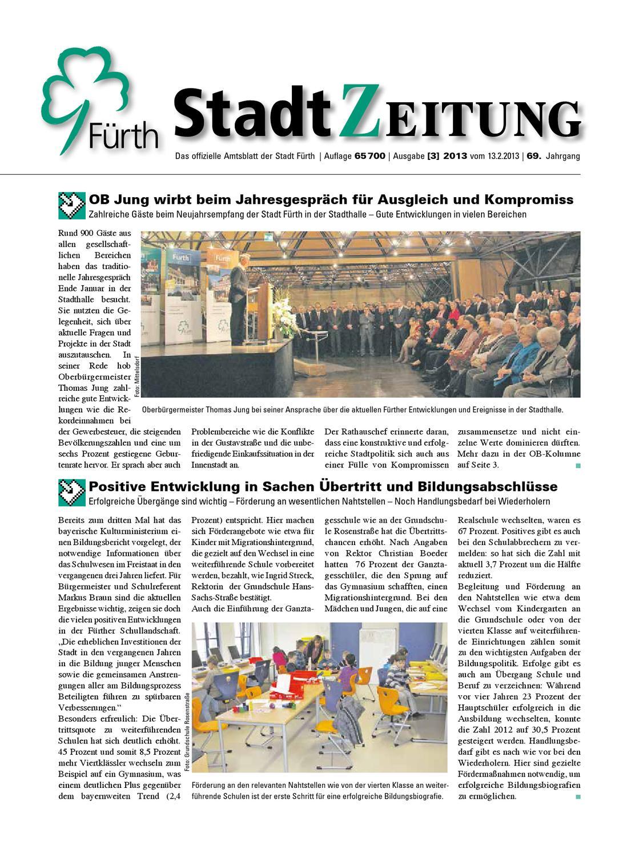 StadtZeitung, Nr. 03, vom 13. Februar 2013 by Christian Scharvogel ...