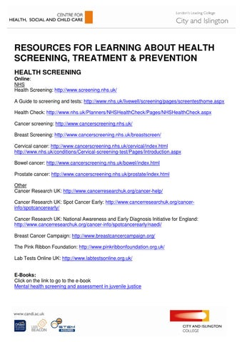 Screening Treatment And Prevention Resources By Luca Becciu Issuu