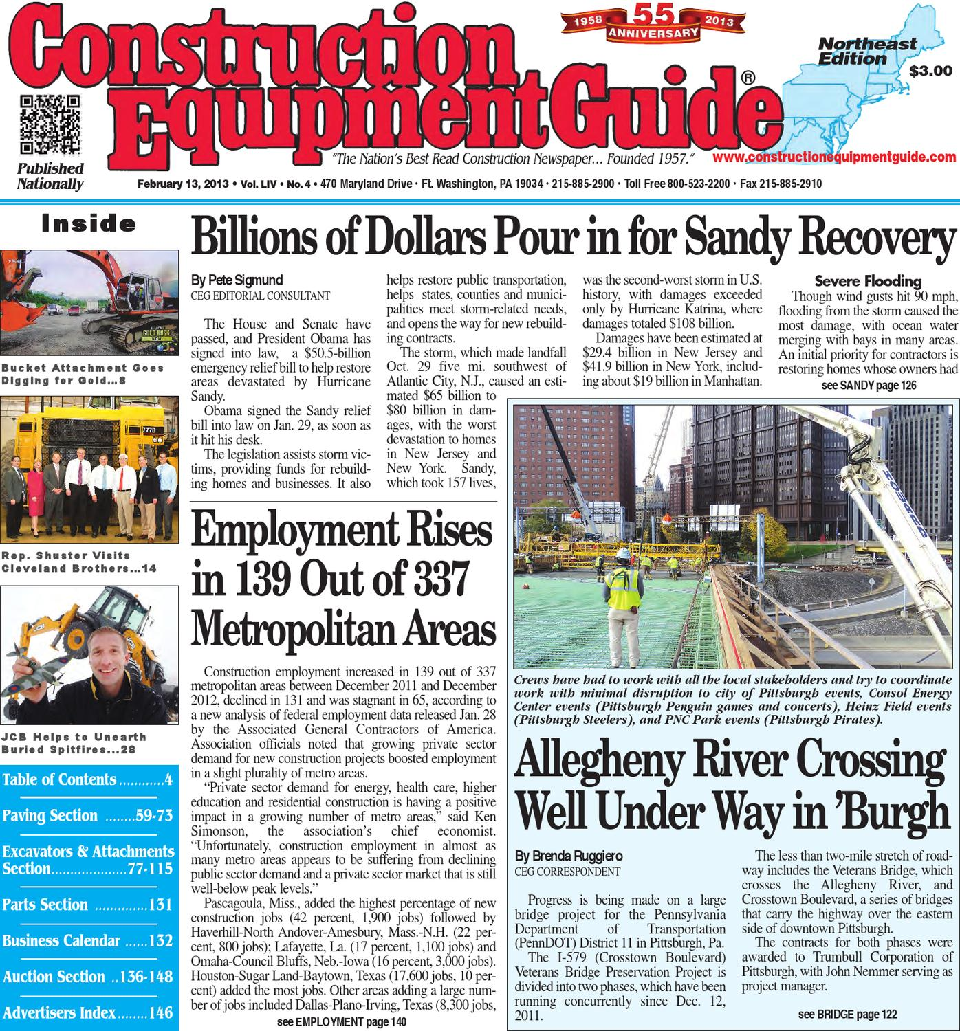 Northeast #4,2013 by Construction Equipment Guide - Issuu