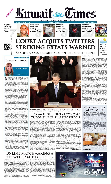 b7a90abf586 14 Feb 2013 by Kuwait Times - issuu