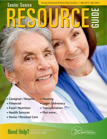 Senior Source Resource Guide by Senior Services of Snohomish County ...